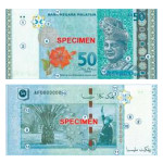 The oil palm tree and the Malaysian 50 Ringgit bank note